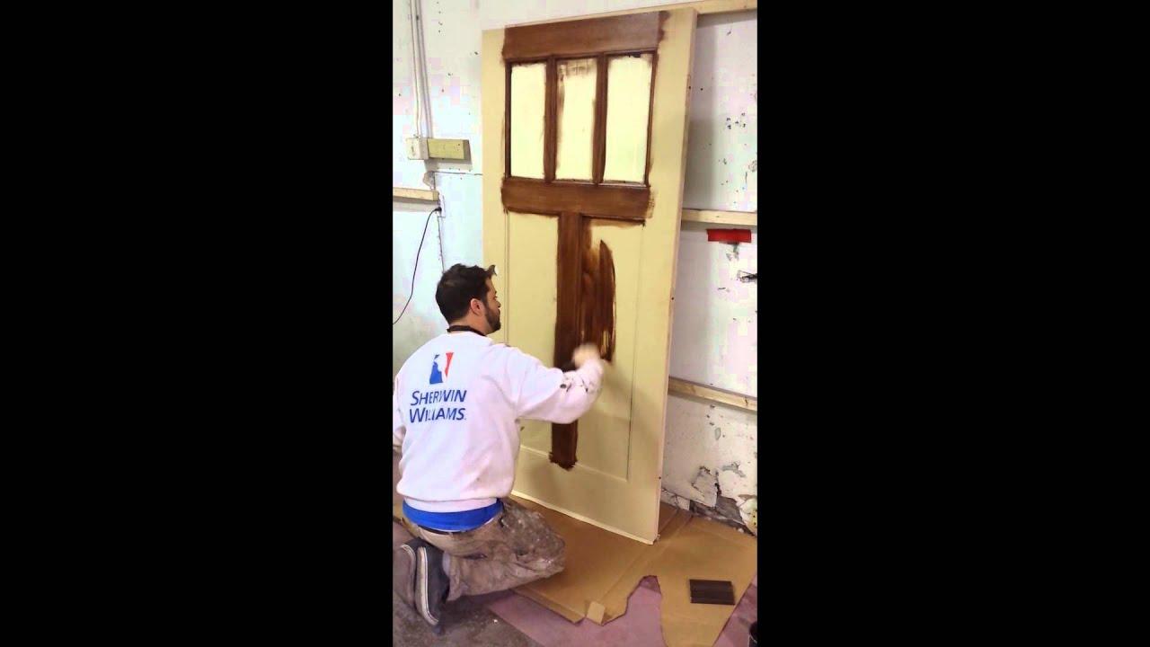 Genial DIY Gel Staining Exterior FiberGlass Door