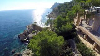 Villa Atlantis, THE seafront Ibiza Villa in Es Cubells, Ibiza