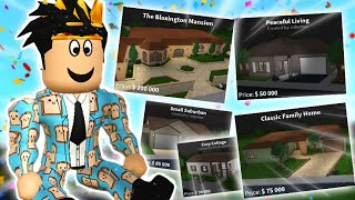 buying all the bloxburg STARTER HOUSES and making fun of them... oh my