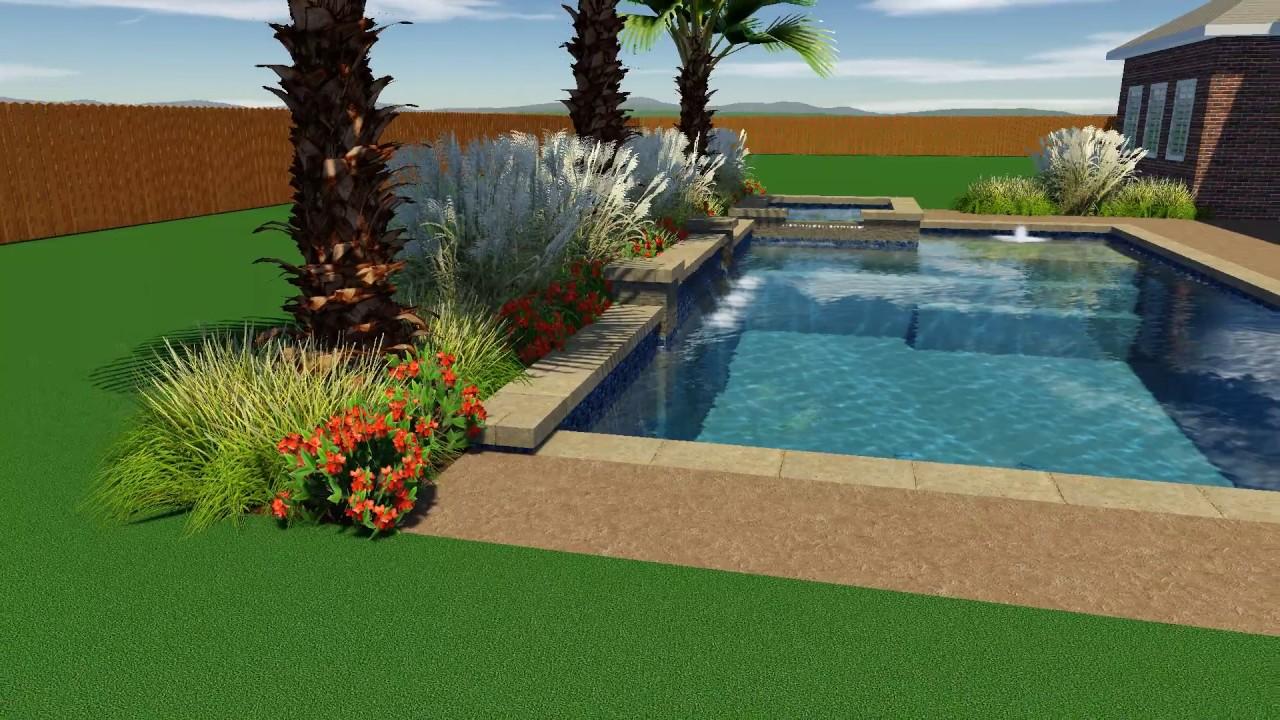 Longoria Pool Design by Backyard Amenities - YouTube