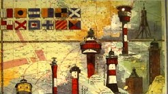 Beleuchtete Seekarte der südlichen Nordsee