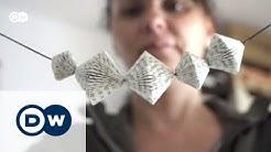 Upcycling: Papierkunst aus alten Büchern | Euromaxx