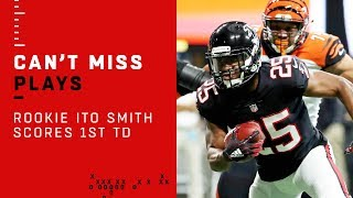 Ito Smith Scores 1st NFL TD to Cap Off Falcons Opening Drive
