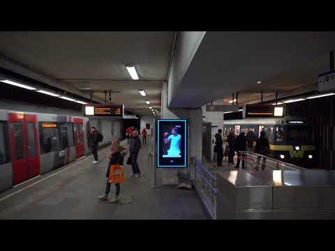 Ritje RET naar Blaak voor Museum Metrostel 5024, 50 jaar Metro Rotterdam