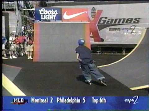 Matty Mantz - XGames 1996 Rollerblading Street Finals - 2nd Run