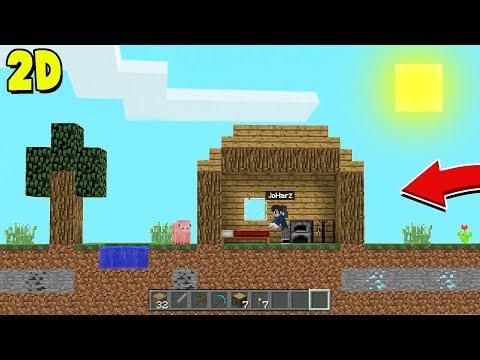 RUMAH PERTAMA DI SURVIVAL 2D MINECRAFT! - Minecraft Indonesia