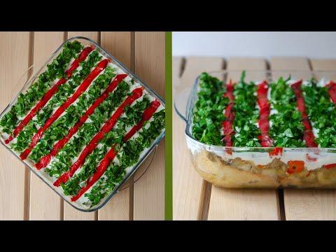 etimekli patlıcan salatası  lezzetli salata tarifi