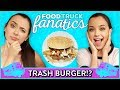FRENCH FRY BURGER CHALLENGE Food Truck Fanatics w Merrell Twins