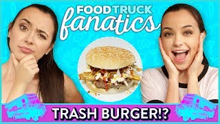 FRENCH FRY BURGER CHALLENGE?! Food Truck Fanatics w/ Merrell Twins