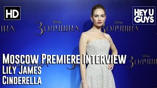 Lily James Interview - Cinderella Moscow Premiere(Lily James is interviewed at the Moscow screening premiere of her movie Cinderella. She's stars as the lead character opposite a cast which includes Cate ..., 2015-02-17T18:11:01.000Z)