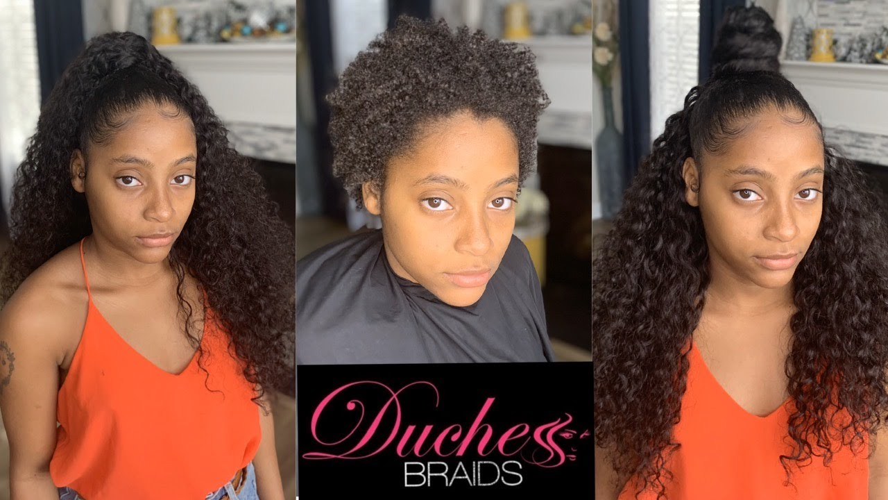 Half Up/ Half Down Quick Weave   No Heat   Curly Hair