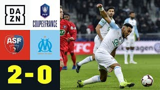 OM von 4. Ligist blamiert : Andrezieux - Olympique Marseille 2:0 | Coupe de France | DAZN Highlights