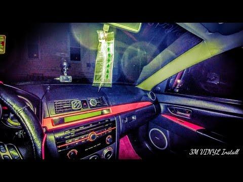 DIY HOW WRAP INTERIOR PIECES ON ANY CAR MAZDA MODS