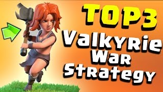 "TOP 3 TH9 BEST ""VALKYRIE"" WAR ATTACK STRATEGY 2017 