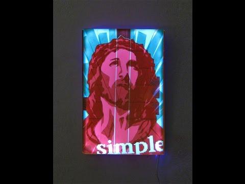 """Jesus- Contemporary Pop Icon""- Tape Art Lamp"