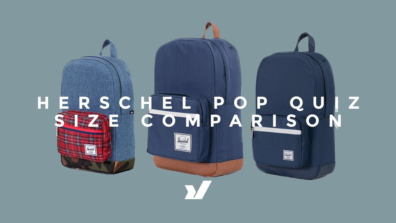 The Herschel Pop Quiz Size Comparison - YouTube 2e74ceca6ebb7