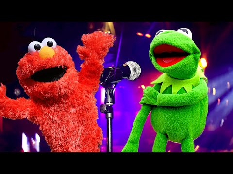 Elmo and Kermit the Frog Car Karaoke! FT The Weeknd & Rihanna