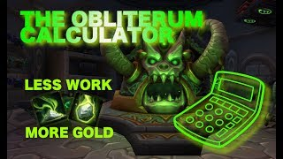 The Obliterum Calculator - More profit in 1 click! Calculate your Oliterum Ash and get more gold!