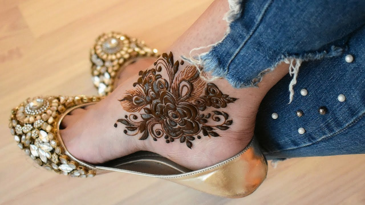 Foot Henna Designs: Beautiful Quick Henna Mehndi Design For Feet