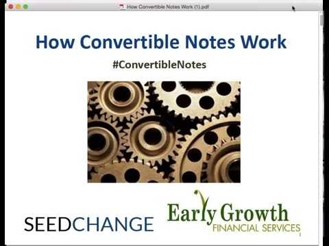 How Convertible Notes Work, Part 1