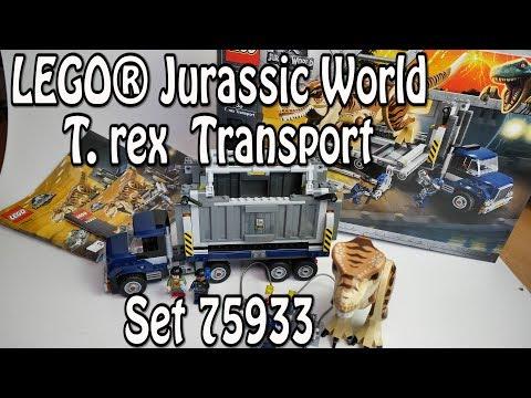 LEGO T.rex Transport (Jurassic World Set 75933) Review deutsch