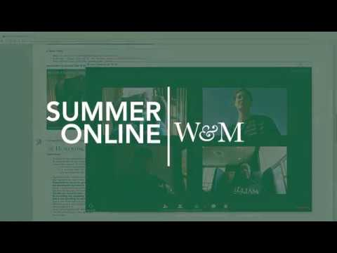 Take Summer Online Classes @ William & Mary!