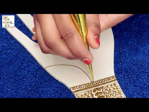 Mehndi Design for Beginners | Easy Floral Mehndi Design For Hands by Sonia Goyal #041
