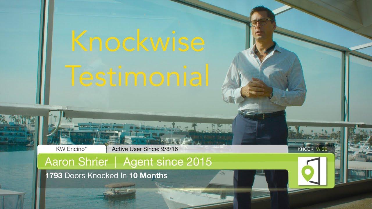 Knockwise-Aaron Testimonial
