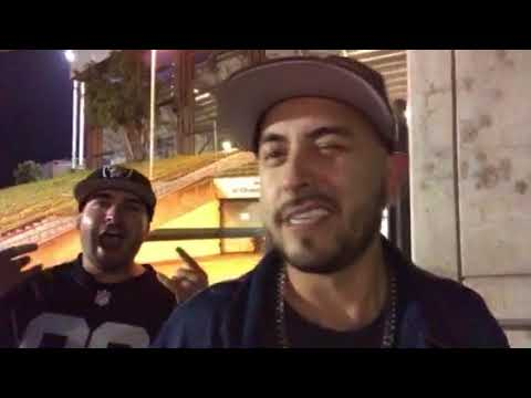 Armando: Raiders And Zennie62 Fan, Friendly BART Agent, At Oakland Raiders vs KC Chiefs Game