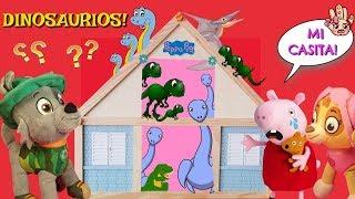 BEBÉS DINOSAURIO se escapan y entran en casa de PEPPA PIG! Paw Patrol español