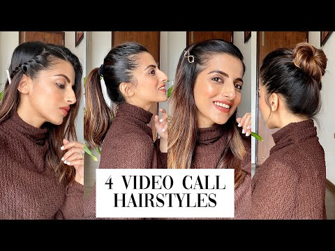1 Min Video Or Zoom Call Hairstyles | Quick & Easy Hairstyles | Knot Me Pretty - YouTube