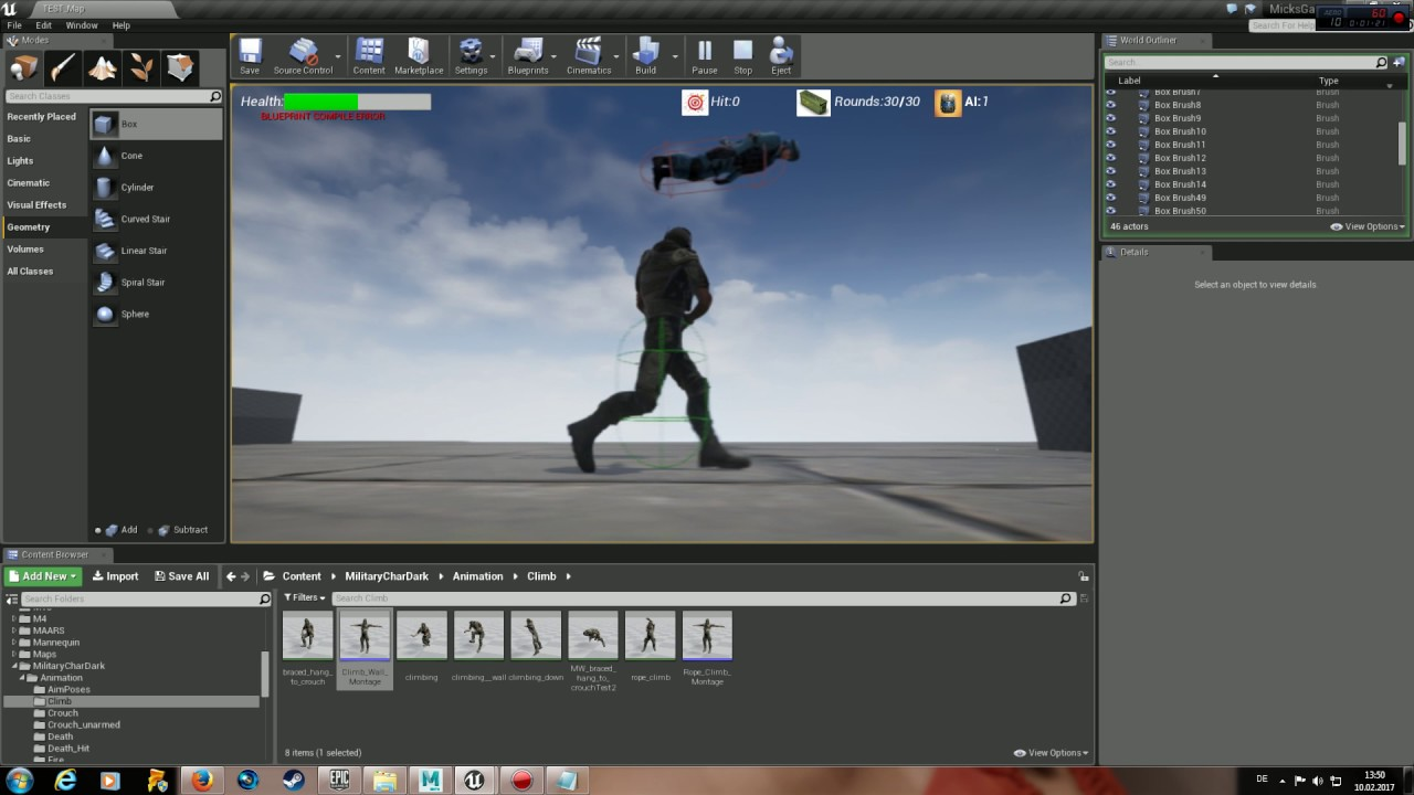 Unreal Engine 4: Root Motion = Capsule Component rotate