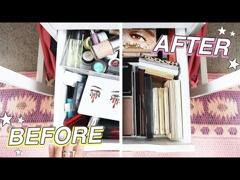 EXTREME MAKEUP ORGANIZATION *crazy before & after!* thumbnail