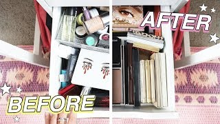 EXTREME MAKEUP DECLUTTER *crazy before & after!*