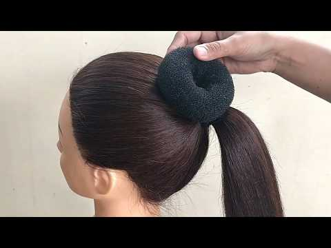 Easy Bun Hairstyles For Saree || Hairstyle For Women  || Twisted Bun Hairstyle