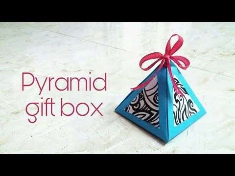 How to make a beautiful Pyramid gift box    Easy crafts🎨    Deffrent ideas💡