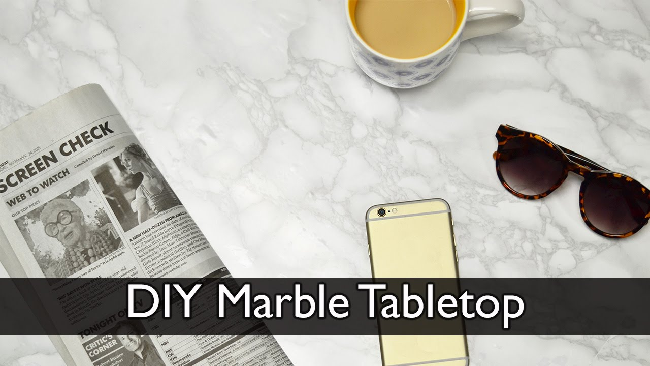 DIY Marble Tabletop Using Adhesive Film   YouTube
