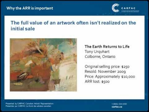 Artist's Resale Right Presentation   CARFAC