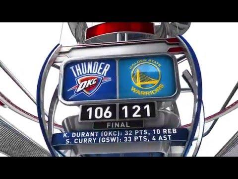 Oklahoma City Thunder vs Golden State Warriors - March 3, 2016