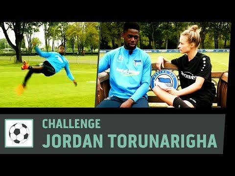 Flanken-Challenge vs. Jordan Torunarigha   Hertha BSC Berlin   Fußball-Challenge   Kickbox