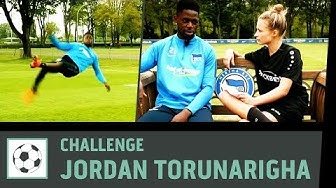 Flanken-Challenge vs. Jordan Torunarigha | Hertha BSC Berlin | Fußball-Challenge | Kickbox