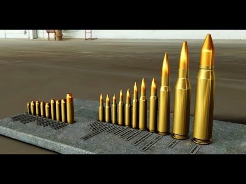Ammunition Comparison -.22 LR to 14,5x114 mm & 20 mm Vulcan!! - Modeled in Autodesk Inventor