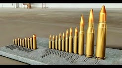 Ammunition Comparison - .22 LR to 14,5x114 mm & 20 mm Vulcan!! - Modeled in Autodesk Inventor