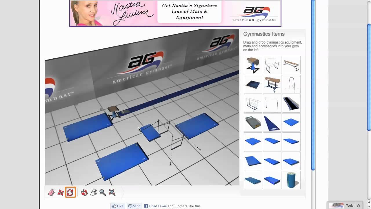 3d gymnastics and cheerleading gym design youtube