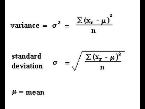 Mean variance and standard deviation youtube mean variance and standard deviation ccuart Image collections