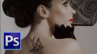Adobe Photoshop CS6 - Tattoo Tutorial  [ Digital Tattoos ]
