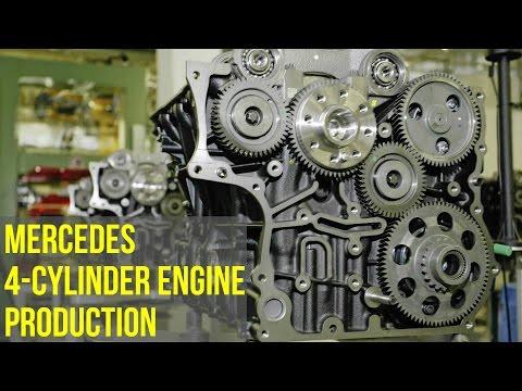 Mercedes 4-Cylinder Engine Production