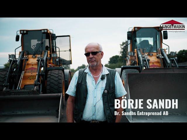 Hjullastare lika med Ljungby Maskin för Br. Sandhs Entreprenad AB