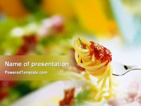 Italian Food Powerpoint Template By PoweredtemplateCom  Youtube