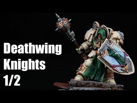 How to paint Deathwing Knights? Dark Angels Warhammer 40k Airbrush Tutorial 1/2
